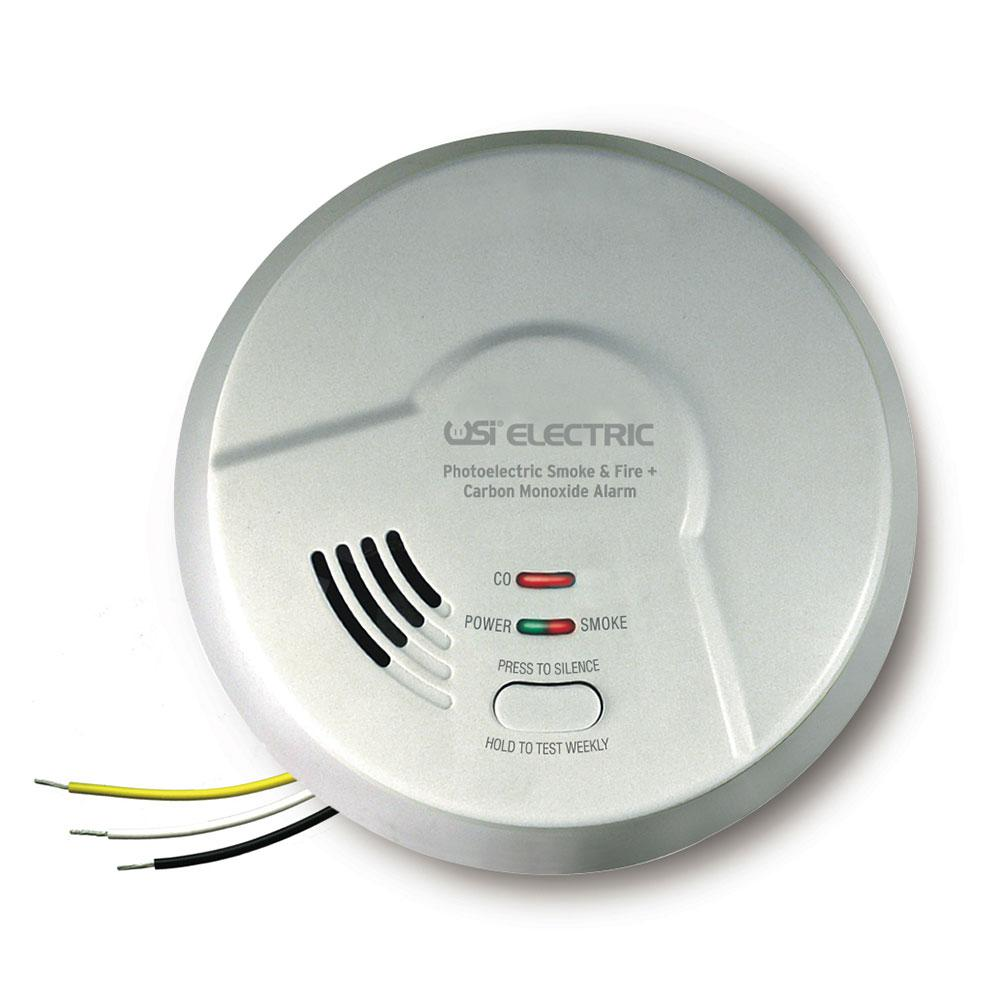 2-in-1 Photoelectric and Carbon Monoxide Combination Detector with 10-Year Sealed Battery